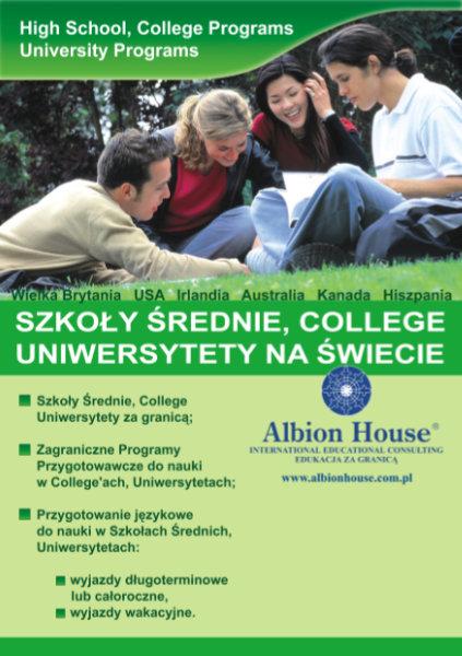 ulotka szkoły językowej Albion House - Corel Draw, Adobe Photoshop