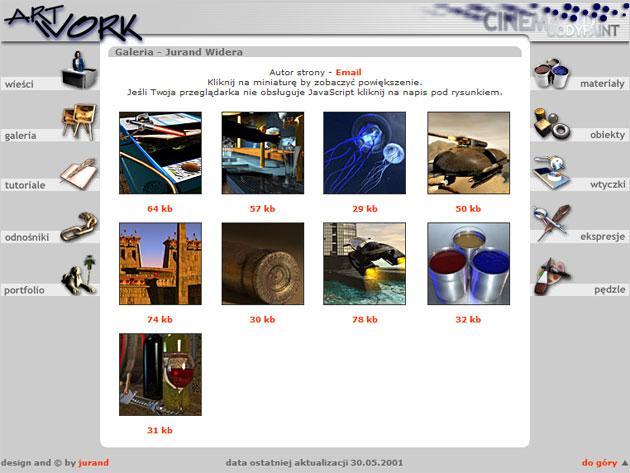 strona www artwork - Adobe Photoshop, php