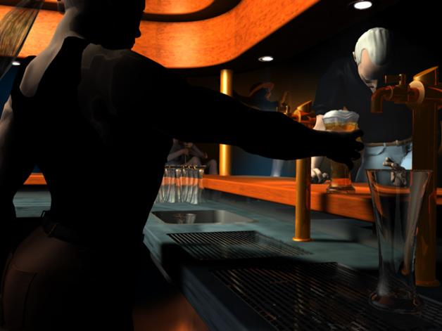 scena w barze - Cinema 4D