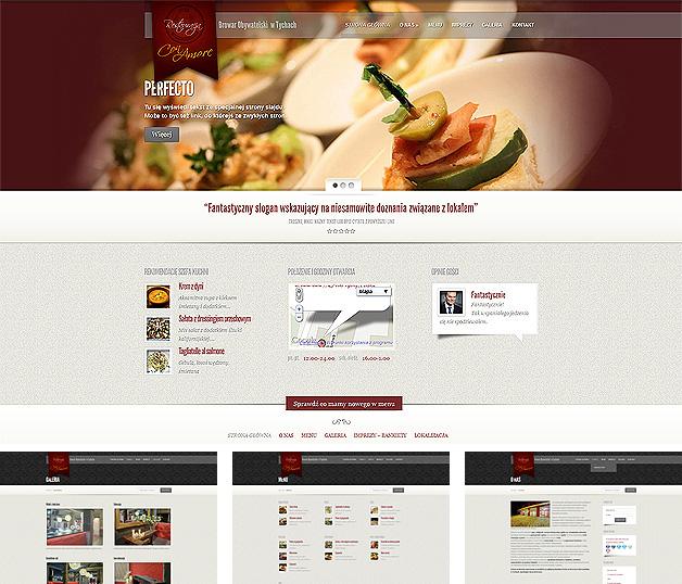 strona www Con Amore - Adobe Photoshop, WordPress