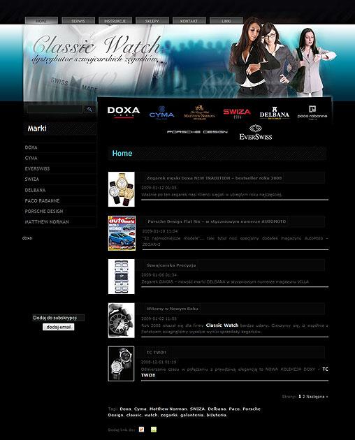 strona www Classic-Watch - Adobe Photoshop, Quick Cart
