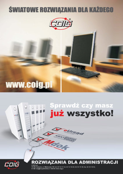 reklama prasowa COIG S.A. - Adobe Photoshop