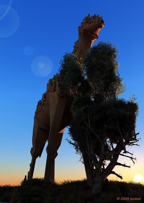 Żyrafa z kamienia - Vue d'ESprit