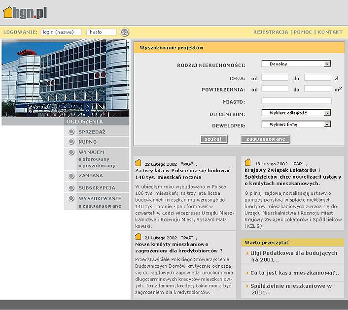 strona www hgn - Adobe Photoshop