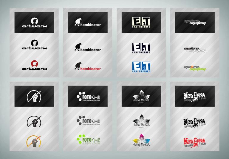 różne logotypy - Affinity, Designer, Adobe Illustrator, Corel Draw