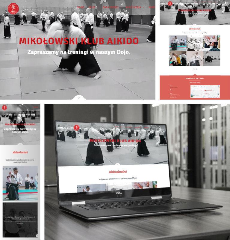 Strona www Mikołowskiego Klubu Aikido - WordPress