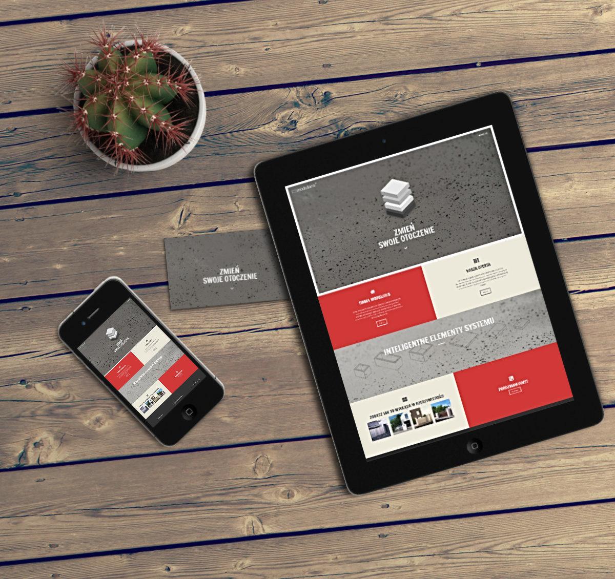 strona firmowa dla firmy Modularis - WordPress, Adobe Photoshop