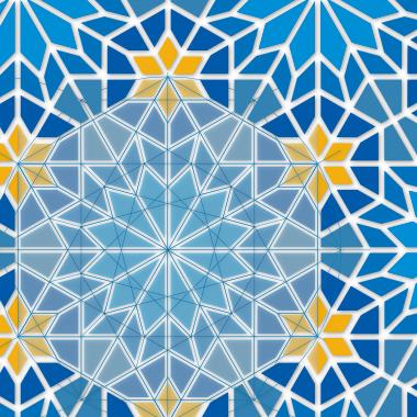 perska mozaika geometryczna