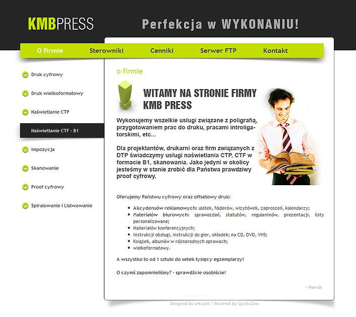 strona www KMB Press - Adobe Photoshop, Quick CMS