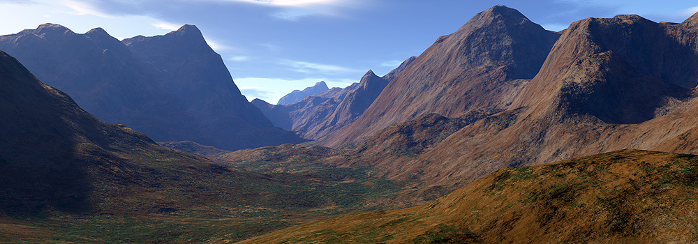 górskie widoki - Terragen