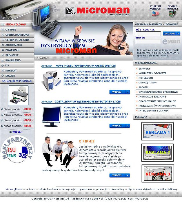strona www Microman - Adobe Photoshop, html