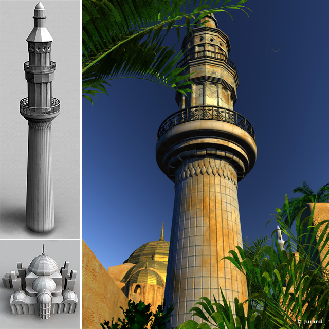 minaret - Cinema 4D