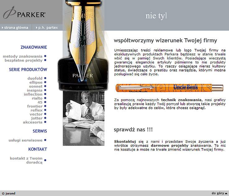 strona www Parker - Adobe Photoshop, php