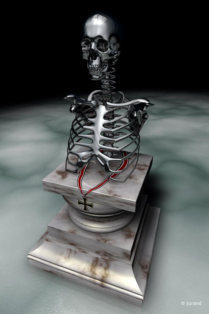 popiersie, kości - Cinema 4D