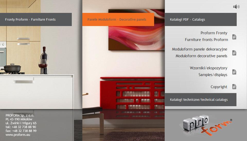 prezentacja multimedialna Proform - Adobe Photoshop, Macromedia Flash