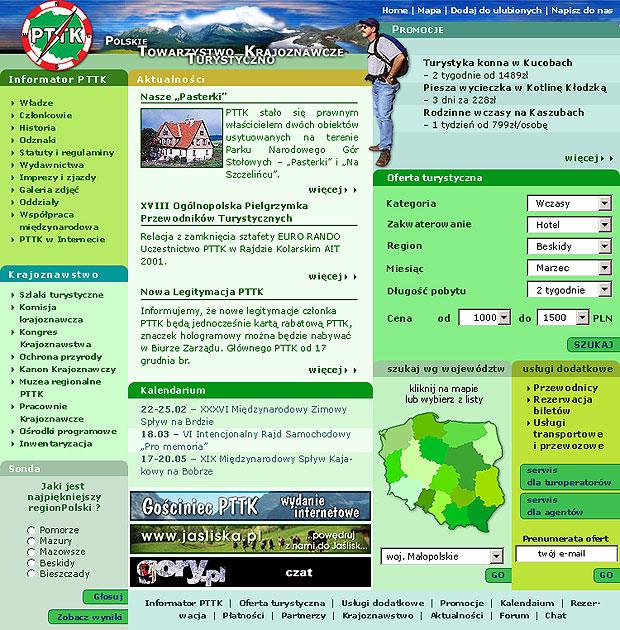projekt strony www PTTK - Adobe Photoshop