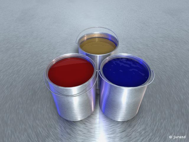 puszki z farbą - Cinema 4D