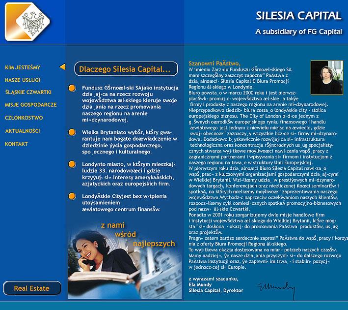 strona www Silesia Capital - Adobe Photoshop, html