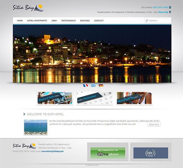 strona www Sitia Bay - Adobe Photoshop, WordPress