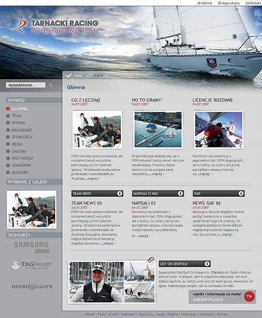 strona www Tarnacki Racing Team - Adobe Photoshop, html