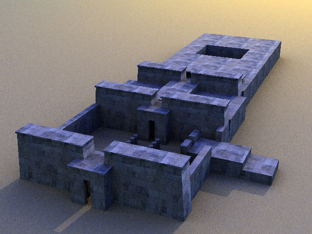 temple of Amon - Cinema 4D