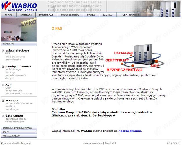 strona www WASKO - Adobe Photoshop, html
