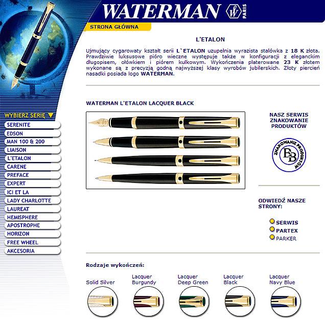 strona www Waterman - Adobe Photoshop, html
