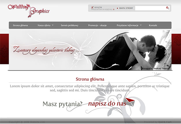 strona www wedding graphics - Adobe Photoshop, Quick CMS