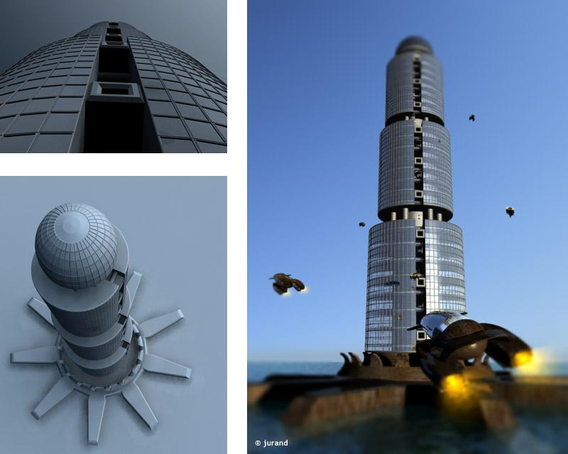 wieżowiec - Cinema 4D
