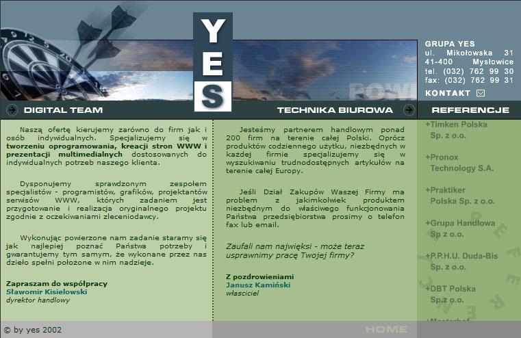 strona www yes - Adobe Photoshop, php